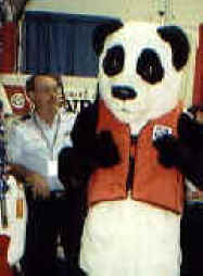 The giant auxiliary Panda helping kids realize that PFD's float, but kids don't.