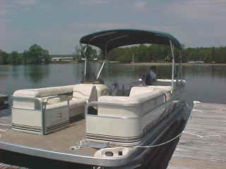 This pontoon boat will not leave the dock without being checked off as safe.